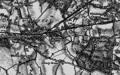 Old map of Huyton Quarry in 1896