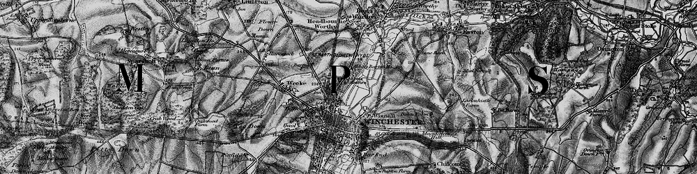 Old map of Abbott's Barton in 1895