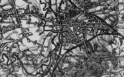 Old map of Hyde in 1896
