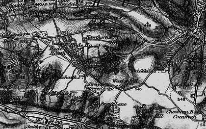 Old map of White's Wood in 1896