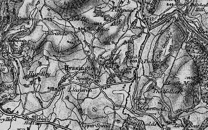 Old map of Bagbury in 1899
