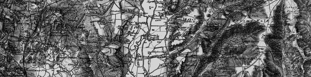 Old map of Ibsley in 1895