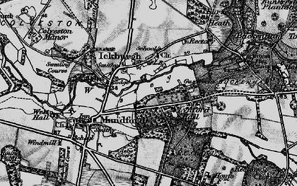 Old map of Ickburgh in 1898