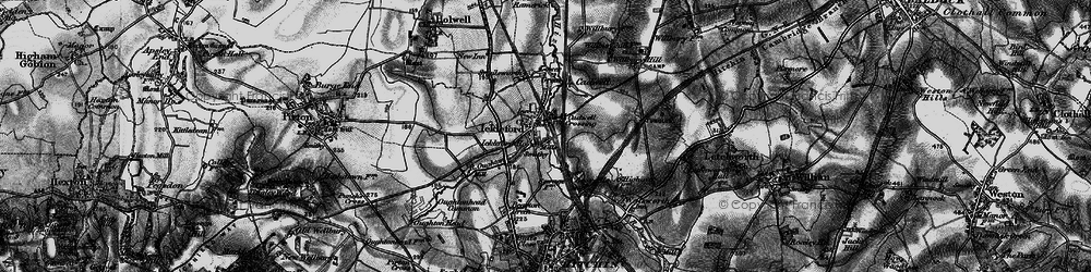 Old map of Ickleford in 1896