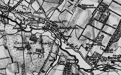 Old map of Ash Plantn in 1898