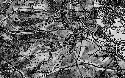 Old map of Ide in 1898