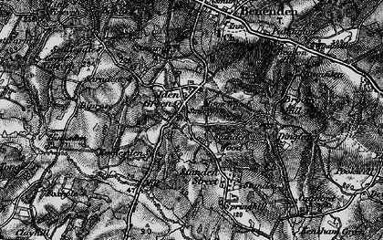 Old map of Iden Green in 1895