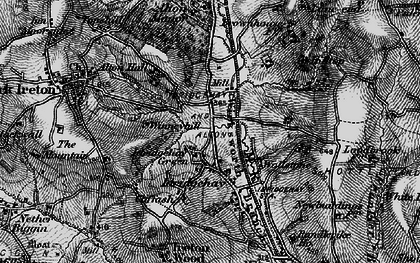 Old map of Winneyhill in 1897