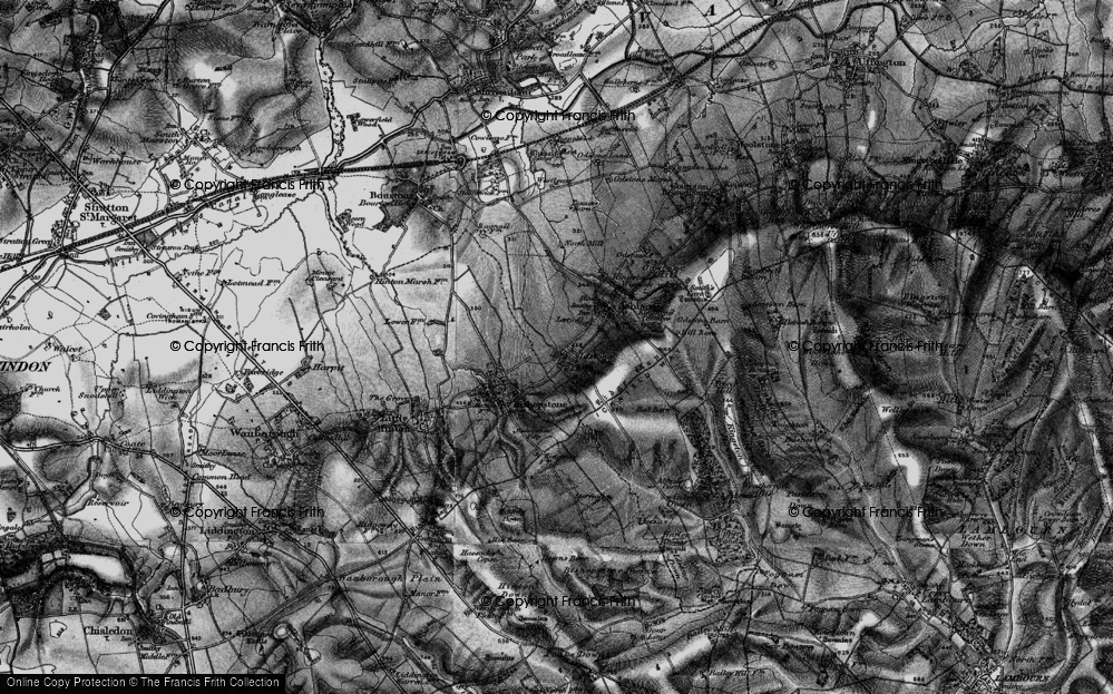 Old Map of Historic Map covering Alfred's Castle in 1898