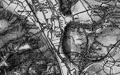 Old map of Iffley in 1895