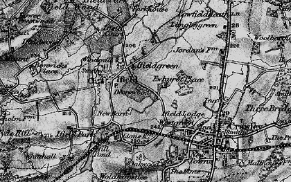 Old map of Ifield in 1896