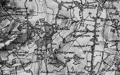 Old map of Ifield Court in 1896