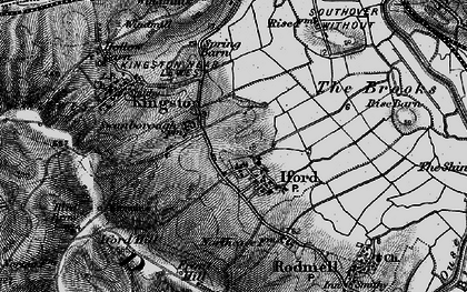 Old map of Iford in 1895