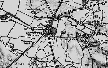 Old map of Ilchester in 1898