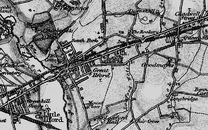Old map of Ilford in 1896