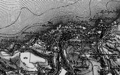 Old map of Ilfracombe in 1898
