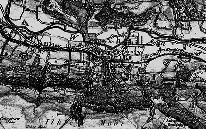 Old map of Whetstone Gate in 1898