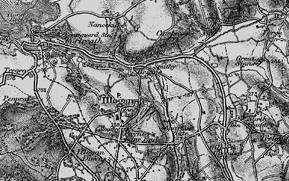 Old map of Illogan in 1896