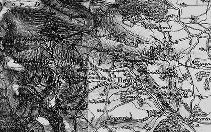 Old map of Ilsington in 1898