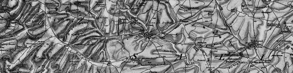 Old map of Imber in 1898