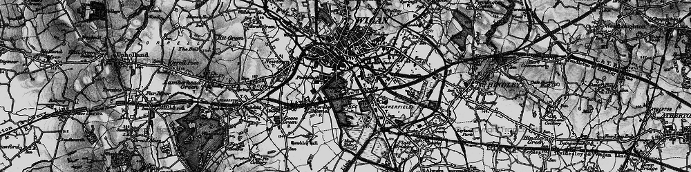 Old map of Ince in Makerfield in 1896
