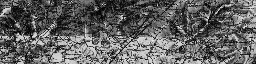Old map of Ingatestone in 1896