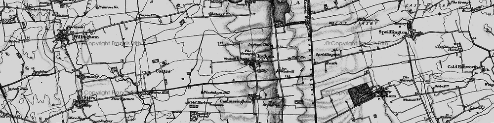 Old map of Ingham in 1899
