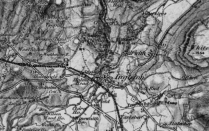 Old map of White Scar Cave in 1898