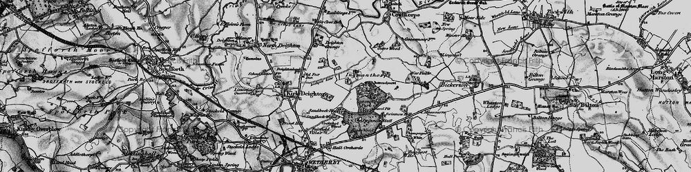 Old map of Willowgarth Plantn in 1898