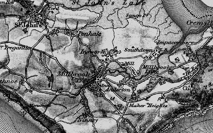 Old map of Insworke in 1896