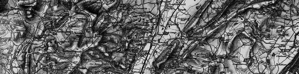 Old map of Worsley in 1899