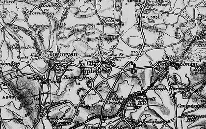 Old map of Ipplepen in 1898