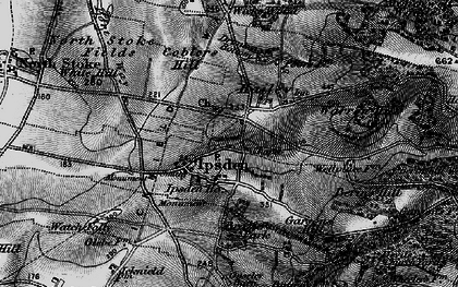Old map of Wicks Hill in 1895