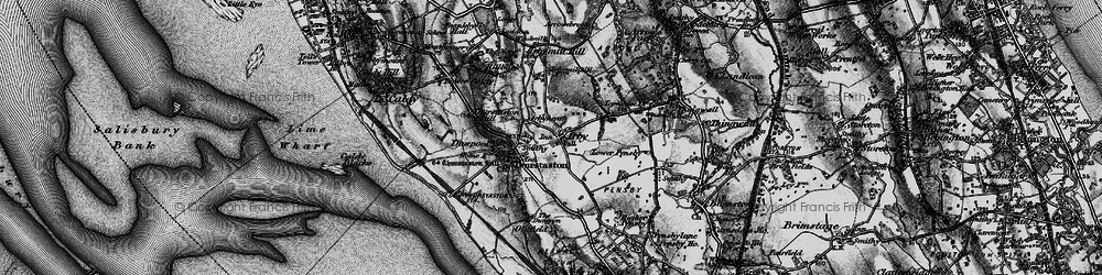 Old map of Irby in 1896