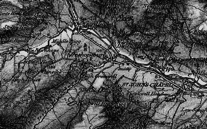 Old map of Ireshopeburn in 1897
