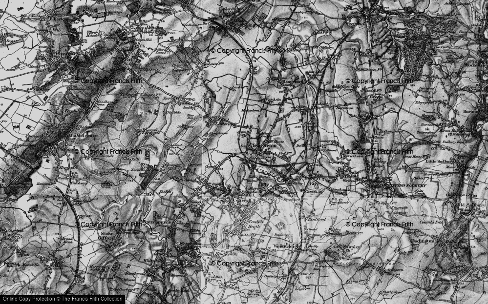 Old Map of Historic Map covering Algars Manor in 1898