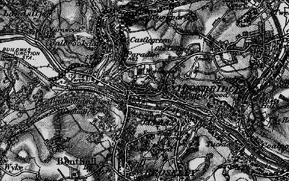 Old map of Ironbridge in 1899