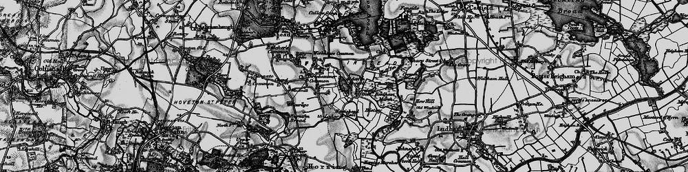 Old map of Alderfen Broad in 1898