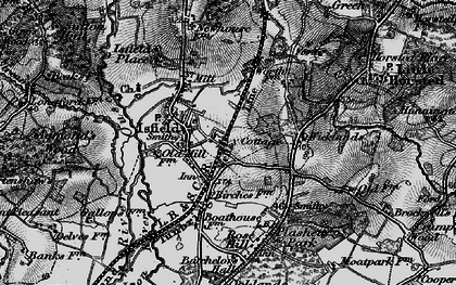 Old map of Wicklands in 1895