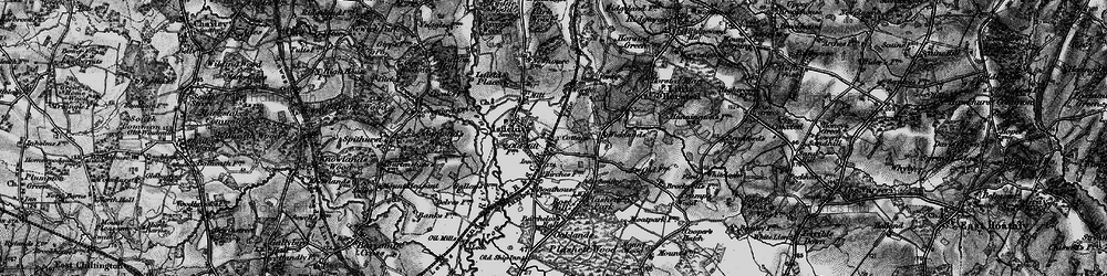 Old map of Lavender Line in 1895