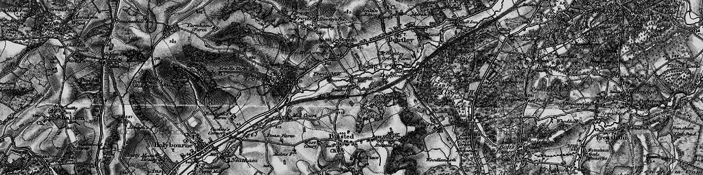 Old map of Isington in 1895