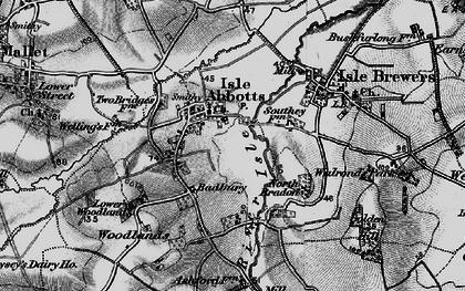 Old map of Badbury in 1898