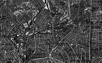 Old map of Islington in 1896