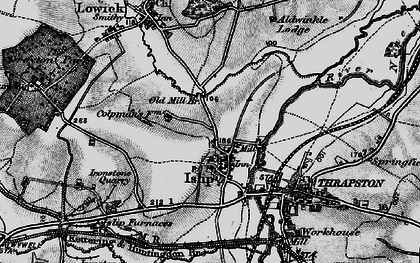 Old map of Islip in 1898