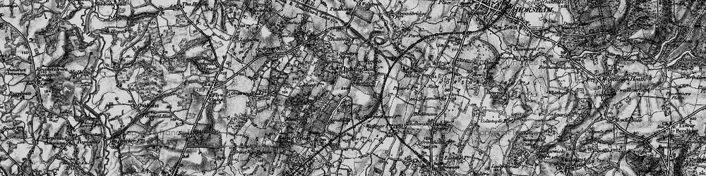Old map of Toat Hill in 1895