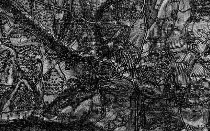 Old map of Ivy Hatch in 1895
