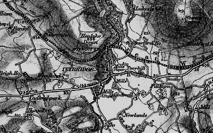 Old map of Yeolands in 1898