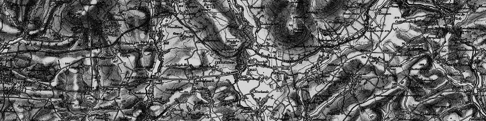 Old map of Ivybridge in 1898