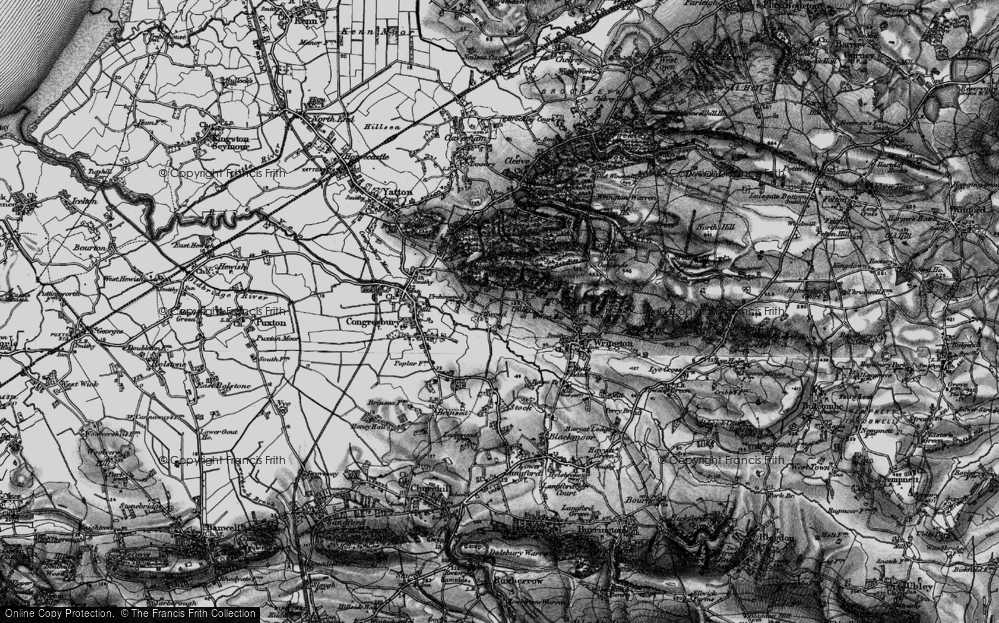 Old Map of Historic Map covering Ball Wood in 1898