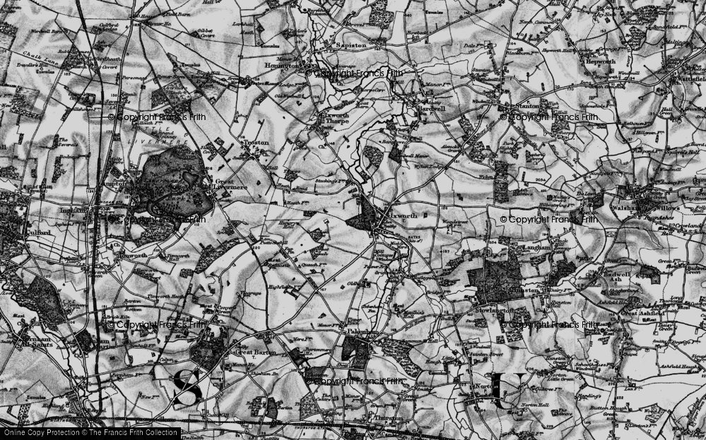 Old Map of Ixworth, 1898 in 1898